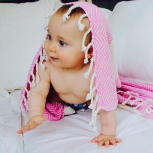 kadife towel pink